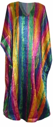 SOLD OUT!!!!New!  Lovely Rainbow Print Poly/Satin Plus Size & Supersize Caftan Dress 1x to 6x