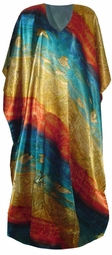 SOLD OUT!!!New!  Lovely Rainbow Seashell Print Poly/Satin Plus Size & Supersize Caftan Dress 1x to 6x