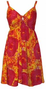SOLD OUT!!!!New! Orange Tiedye Plus Size & Supersize 2 Piece Babydoll Tie Swimdresses   0x