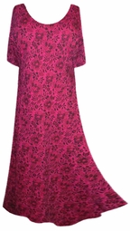 SOLD OUT!!!!!!!!!!! New! Pretty Fuschia Gothic Rose Lace Princess Cut Short Sleeve Plus Size & Supersize Dresses 0x