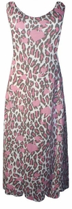 SOLD OUT!!!!!New! Pretty Pink Leopard Hearts Plus Size & Supersize Princess Cut Tank Dresses  5x