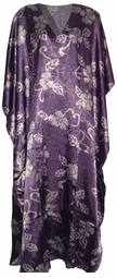 SOLD OUT!!!!New! Pretty Purple Print Poly/Satin Plus Size & Supersize Caftan Dress 1x to 6x