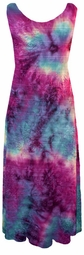 SOLD OUT! New! Spring Rainbow TieDye Floral Embossed Slinky Plus Size & Supersize Princess Cut Tank Dresses 1x
