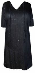 SOLD OUT!!!!New! Starry Night Crepe Swimsuit Cover-Ups or Over-Blouse Plus Size & Supersize 3x