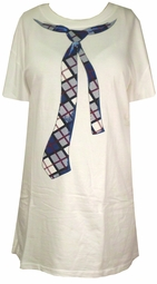 SOLD OUT!!!!!!!!!!!!! Novelty Graphic Tie Plus Size T-Shirt 4XL