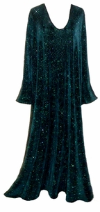 SOLD OUT!!!!!!NX25 SALE! SALE! Beautiful Shimmering Black & Teal Glittery Plus Size & Supersize Dress  3x/4x