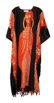 SOLD OUT!!!!!!!Orange Sequin Rayon Plus Size & Supersize Caftan Dress 1x to 6x