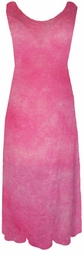 Sold Out! Pastel Hot Pink Summer Sheer Crinkle Plus Size & Supersize Princess Cut Tank Dresses  7x