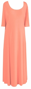SOLD OUT!!!!!Peachy Slinky Princess Cut Short Sleeve Plus Size & Supersize Dresses 3x