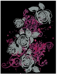 SOLD OUT!!!! Pink Rose Swirl Plus Size & Supersize T-Shirts S M L XL 2x 3x 4x 5x 6x 7x 8x