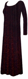SOLD OUT!Pretty Black with Red Glimmer Slinky Plus Size Long Sleeve Dress XL