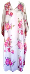 Sold Out!!!! Pretty in Pink Roses Print Poly/Satin Plus Size & Supersize Caftan Dress or Shirt 1x to 6x