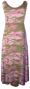 SOLD OUT!!!!!Pretty Pink & Green Camo Plus Size & Supersize Princess Cut Tank Dresses