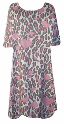 SOLD OUT! Pretty Pink Leopard Hearts Plus-Size Shirt