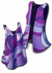 SOLD OUT! Pretty Purple Magenta Abstract Slinky Plus Size & Supersize Customizable Tank or Shell Lg to 4x