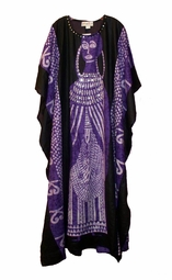 SOLD OUT!!! Purple Sequin Rayon Plus Size & Supersize Caftan Dress 1x to 6x