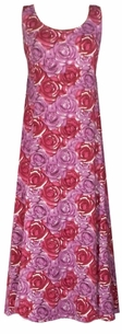 SOLD OUT!!!!!!Purple & Wine Roses Plus Size & Supersize Princess Cut Dress