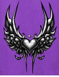 SOLD OUT!!!! Purple Winged Heart Plus Size & Supersize T-Shirt 6x