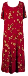 SOLD OUT! Red & Gold Floral Slinky Plus Size & Supersize Customizable Dresses Shirts & Jackets Lg to 9x