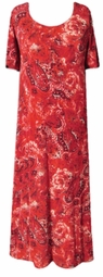 SOLD OUT! Red Paisley Slinky Plus Size & Supersize Customizable Dresses Shirts & Jackets Lg to 9x