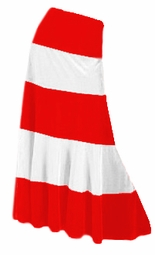 SOLD OUT! Red & White Satin Plus Size Tiered Skirt 7x 8x