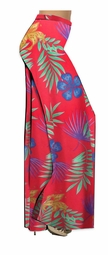 SALE! Customizable Plus Size Tropical Flowers Slinky Print Palazzo Pants - Tapered Pants - Sizes Lg XL 1x 2x 3x 4x 5x 6x 7x 8x 9x
