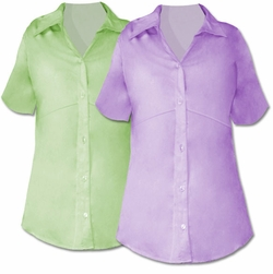 SOLD OUT!!!!!!!!!!!!!!!!Reduced! SALE! Adorable Blouse! Lavender and Lime Plus Size Button Down Shirts 16