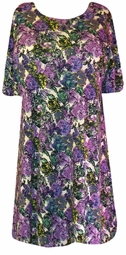 SOLD OUT!!!!!!!!!!!!!!REDUCED! SALE! Purple and Green Floral Print Plus Size & Supersize T-Shirts 1x  3x