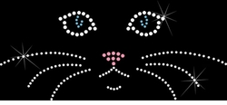 SOLD OUT!!!Rhinestone Kitty Whiskers! Plus Size & Supersize T-Shirts S M L XL 2xl 3xl 4x 5x 6x 7x 8x