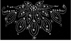 SOLD OUT!!! Rhinestone Neckline Plus Size T-Shirt 5x