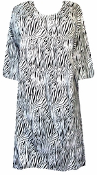 SOLD OUT! s6002 Black & White Zebra Print Cotton Plus Size & Supersize T-Shirts 4x