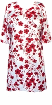 SOLD OUT!!!! s6024 White & Red Floral Plus Size & Supersize T-Shirts 1x