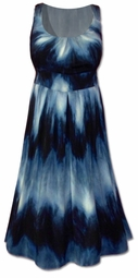 SOLD OUT!!!!!!!!!!!!!SALE!  Absolutely Stunning Plus Size Navy Blue Tie Dye Dress 22w 24w