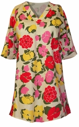 SOLD OUT!!!!!!!!!!!!!!!!!SALE!  Adorable Red and Yellow Floral Plus Size Scrub Top 4xl
