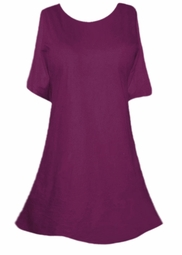 SOLD OUT!!!!!!!!!!!!!!!Sale! Almost Sheer Purple Princess Cut  Plus Size & Supersize Swimsuit Cover-Ups or Over-Blouse 4x