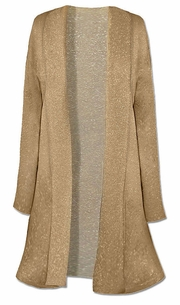 SOLD OUT!!!!!Sale! Beautiful Gold Knit Plus Size Duster Jacket 3X