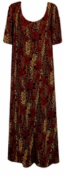 SOLD OUT! SALE! Black Tan & Red Leopard Floral Embossed Plus Size & Supersize Customizable Dresses Shirts & Jackets Lg to 9x