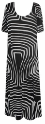 SOLD OUT!! SALE! Black & White Slinky Plus Size & Supersize Customizable Dresses Shirts & Jackets Lg to 3x