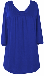 SOLD OUT!!!!!SALE! Blue  Cotton Lycra Half Sleeve Babydoll Top 3x