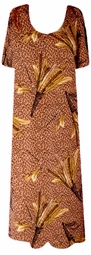 SOLD OUT! SALE! Bronzy Tan Leopard Feathers Slinky Plus Size & Supersize Customizable Dresses Shirts & Jackets Lg to 9x