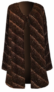 SOLD OUT!!!!SALE!! Comfy and Casual Metallic Shimmer Plus-Size Slinky Tie Duster Jacket 2x