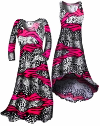 SOLD OUT!!!!!!!!! SALE! Customizable! HOT Pink & Black Animal Print Slinky Plus Size & Supersize Straight or Cascading A-Line or Princess Cut Dresses & Shirts, Jackets, Pants, Palazzo's or Skirts Lg XL 0x 1x 2x 3x 4x 5x 6x 7x 8x 9x