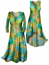 SOLD OUT!!!!!!!! SALE! Customizable! Lightweight Green & Yellow Tiedye Print Slinky Plus Size & Supersize Straight or Cascading A-Line or Princess Cut Dresses & Shirts, Jackets, Pants, Palazzo's or Skirts Lg XL 0x 1x 2x 3x 4x 5x 6x 7x 8x 9x
