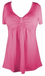 SOLD OUT! Sale! Cute Pastel Pink Plus-Size V-Neck Babydoll Top 1x