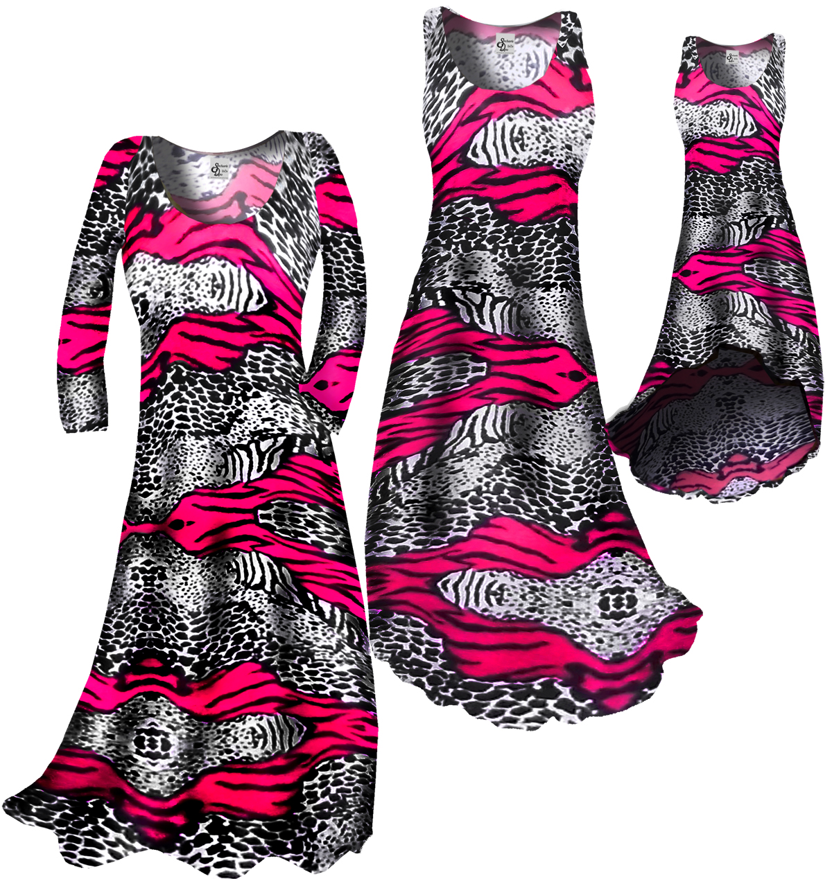 86bf61a6cab55 SOLD OUT! Sale!!! HOT Pink   Black Animal Print Slinky Plus Size    Supersize 4X
