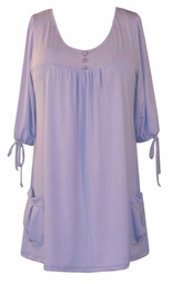 SOLD OUT!!!!!!Sale! Lavender Slinky Pocket Babydoll Tops 1x