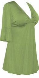 SALE! Plus Size Green Poly/Cotton Sexy Low-Cut Flutter Sleeve Babydoll Tops 0x 1x 2x 3x 4x 5x 6x 7x 8x 9x