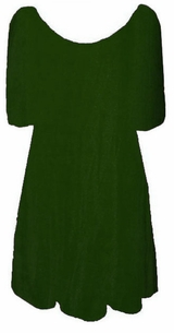 SOLD OUT!!!!Sale! Lovely Dark Green with Round Neckline Plus Size Slinky Shirt 3x/4x