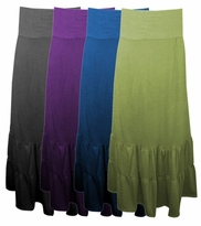 SOLD OUT!!!!!!!!!!!!!SALE! Lovely Plus-Sized Plum Black or Olive Ruffled Fiesta Skirt 4x 5x