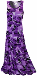SOLD OUT!!!!!!!!! SALE!!!!! NEW! Purple Geometric Abstract Slinky  Princess Cut Tank Dresse or Shirt 1X 8X